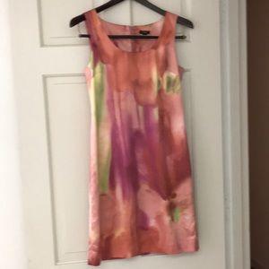 Ann Taylor 4P charmeuse watercolor sheath dress